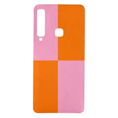 Mod Pink And Orange Squares Samsung Galaxy A9 Tpu Uv Case