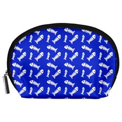 Fish Royal Blue Accessory Pouch (large)