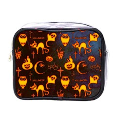 Funny Halloween Design Mini Toiletries Bag (one Side) by FantasyWorld7