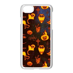 Funny Halloween Design Iphone 7 Seamless Case (white) by FantasyWorld7