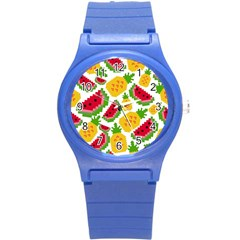 Watermelon Pattern Se Fruit Summer Round Plastic Sport Watch (s)
