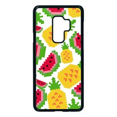 Watermelon Pattern Se Fruit Summer Samsung Galaxy S9 Plus Seamless Case(black)