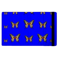Butterfly Pattern Blue Insects Apple Ipad Mini 4 Flip Case by Vaneshart