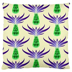 Thistles Purple Flora Flowering Large Cushion Case (two Sides)