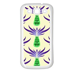 Thistles Purple Flora Flowering Samsung Galaxy S3 Back Case (white)