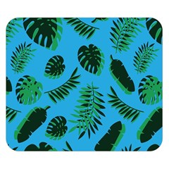 Tropical Leaves Nature Double Sided Flano Blanket (small)