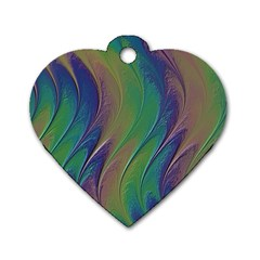 Texture Abstract Background Dog Tag Heart (two Sides) by Vaneshart
