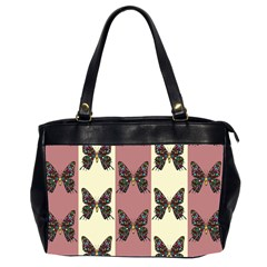Butterflies Pink Old Old Texture Oversize Office Handbag (2 Sides) by Vaneshart