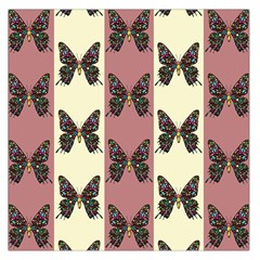 Butterflies Pink Old Old Texture Large Satin Scarf (square) by Vaneshart