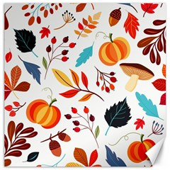 Pattern Pumpkins Autumn Canvas 12  X 12  by Vaneshart