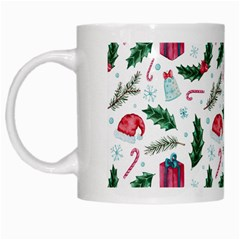 Christmas Background White Mugs by Vaneshart