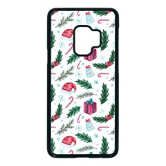 Christmas Background Samsung Galaxy S9 Seamless Case(black)