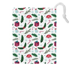 Christmas Background Drawstring Pouch (5xl)