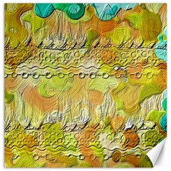 Texture Abstract Background Colors Canvas 12  X 12  by Vaneshart