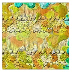 Texture Abstract Background Colors Large Satin Scarf (square)