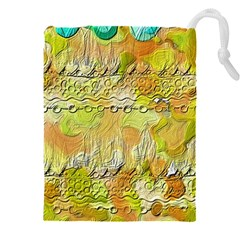 Texture Abstract Background Colors Drawstring Pouch (4xl) by Vaneshart