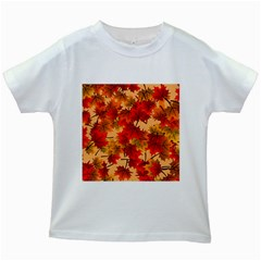 Wallpaper Background Autumn Fall Kids White T-shirts