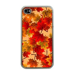 Wallpaper Background Autumn Fall Iphone 4 Case (clear) by Vaneshart
