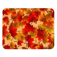 Wallpaper Background Autumn Fall Double Sided Flano Blanket (large)