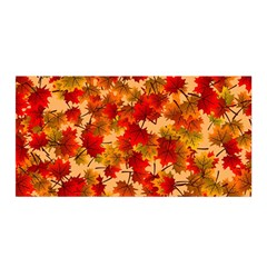 Wallpaper Background Autumn Fall Satin Wrap by Vaneshart