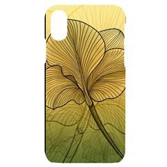 Leaves Design Pattern Nature Iphone X/xs Black Uv Print Case