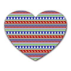 Christmas Digital Paper Heart Mousepads