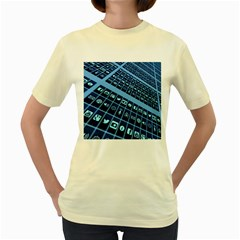 Apps Social Media Networks Internet Women s Yellow T-shirt