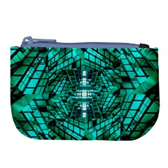 Texture Building Structure Pattern Large Coin Purse