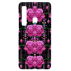 In The Dark Is Rain And Fantasy Flowers Decorative Samsung A9 Black Uv Print Case by pepitasart