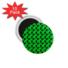 Black Rose Green 1 75  Magnets (10 Pack)  by snowwhitegirl