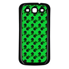 Black Rose Green Samsung Galaxy S3 Back Case (black)
