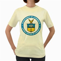 Seal Of United States Department Of Commerce Women s Yellow T Shirt