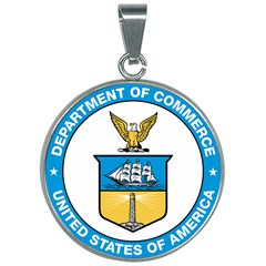 Seal Of United States Department Of Commerce 30mm Round Necklace