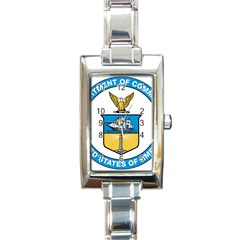 Seal Of United States Department Of Commerce Rectangle Italian Charm Watch by abbeyz71