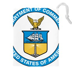 Seal Of United States Department Of Commerce Drawstring Pouch (4xl) by abbeyz71