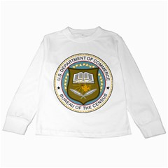 Seal Of United States Census Bureau Kids Long Sleeve T-shirts by abbeyz71