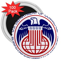 Seal Of United States Department Of Commerce Bureau Of Industry & Security 3  Magnets (100 Pack) by abbeyz71