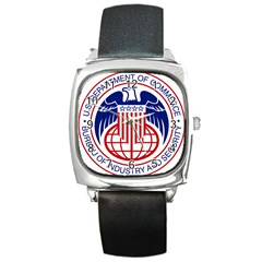 Seal Of United States Department Of Commerce Bureau Of Industry & Security Square Metal Watch