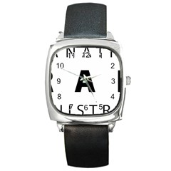 Logo Of United States International Trade Administration  Square Metal Watch
