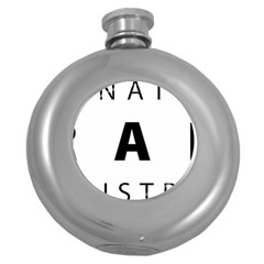 Logo Of United States International Trade Administration  Round Hip Flask (5 Oz) by abbeyz71