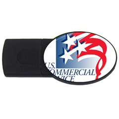 Logo Of United States Commercial Service  Usb Flash Drive Oval (4 Gb)