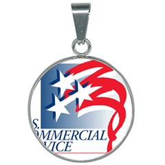 Logo Of United States Commercial Service  25mm Round Necklace