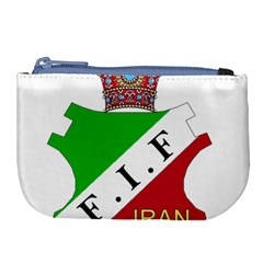 Pre 1979 Logo Of Iran Football Federation Large Coin Purse by abbeyz71
