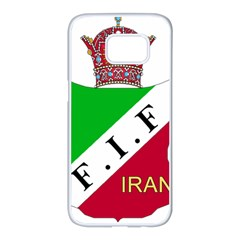 Iran Football Federation Pre 1979 Samsung Galaxy S7 Edge White Seamless Case by abbeyz71