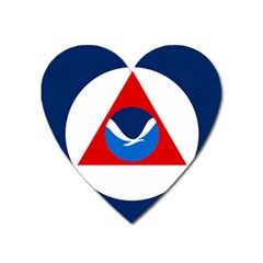 Flag Of National Oceanic And Atmospheric Administration Heart Magnet by abbeyz71