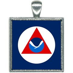 Flag Of National Oceanic And Atmospheric Administration Square Necklace