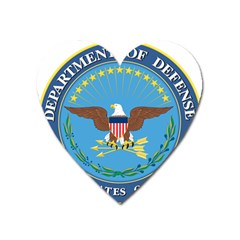 Seal Of United States Department Of Defense Heart Magnet by abbeyz71