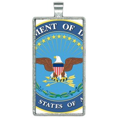 Seal Of United States Department Of Defense Rectangle Necklace