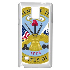 Emblem Of The United States Department Of The Army Samsung Galaxy Note 4 Case (white) by abbeyz71