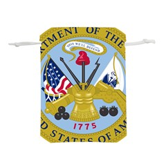 Emblem Of The United States Department Of The Army Lightweight Drawstring Pouch (m)